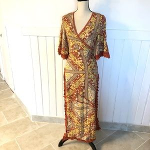 NEW Paper heart maxi dress size S